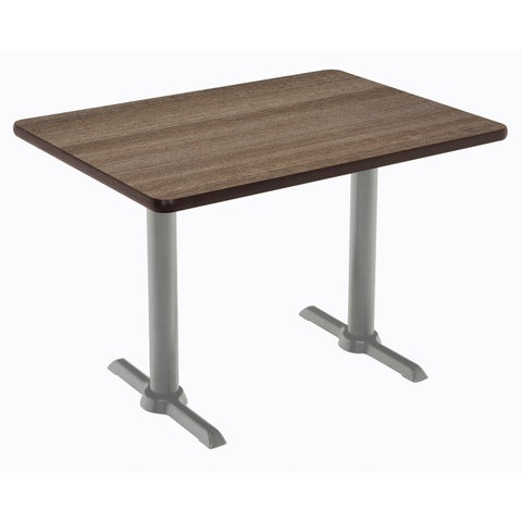 KFI Mode Multipurpose Table, Silver T-leg Base, Standard Height