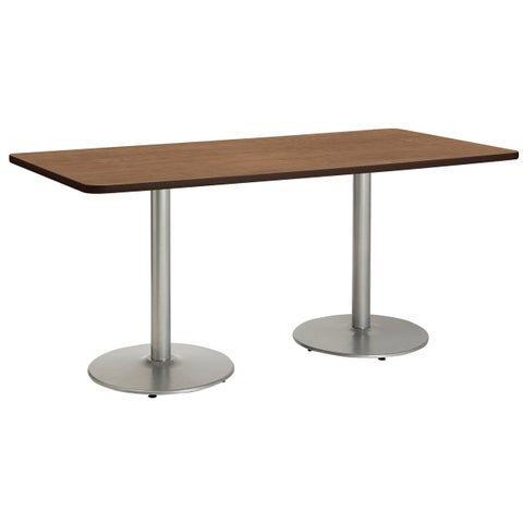 KFI Mode Multipurpose Table, Round Silver Base, Bistro Height