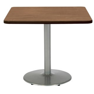 KFI Mode Square Top Multipurpose Table, Round Silver Base, Standard Height
