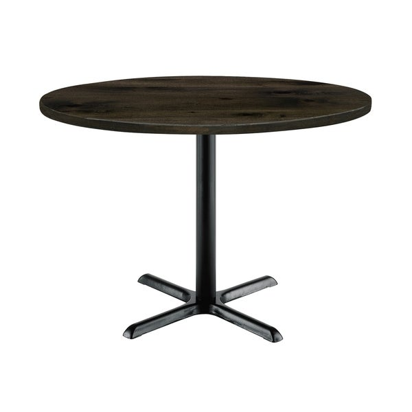KFI Round Top Multipurpose Table, Black X Base, Standard Height