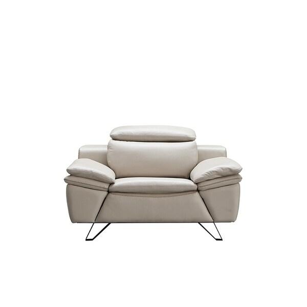 Luca Home Nixon Light Grey Chair