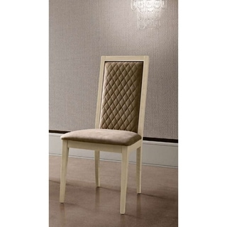 Luca Home Alana Two Toned Dining Chair - N/A