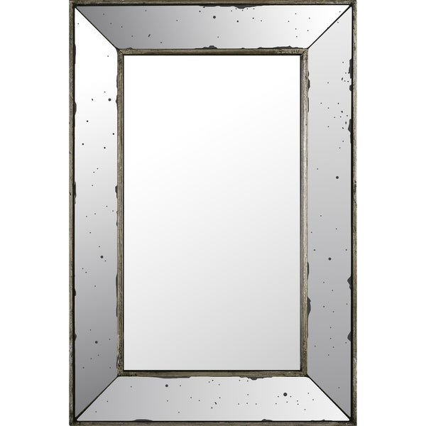 16.14x24.02 Rectangle Mirror, Mirrored frame, Ready to hang - Silver ...