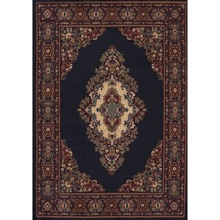 Westfield Home Ulubre Cyprian Navy Blue Accent Rug - 1'10 x 3'