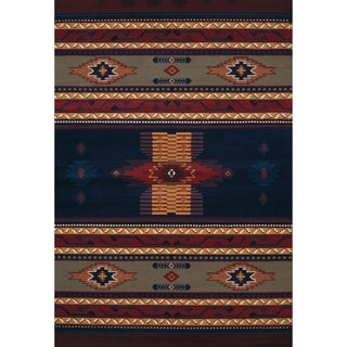 Westfield Home Ulubre Faustina Navy Blue Area Rug - 3'11 x 5'3