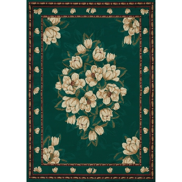 G Westfield Home Ulubre Horatia Hunter Green Area Rug  3u0026x27