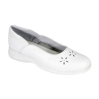 24 HOUR COMFORT Heather Women Wide Width Casual Dress Skimmer Flats (More options available)