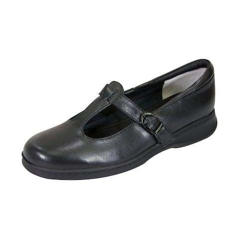 24 HOUR COMFORT Martha Women Wide Width T-Strap Mary Jane Comfort Shoe
