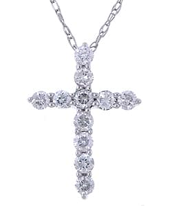 Eloquence 14k White Gold 1/4 ct Diamond Cross Necklace|https://ak1.ostkcdn.com/images/products/2196314/14k-White-Gold-1-4-ct-Diamond-Cross-Necklace-G-H-I2-P10463979a.jpg?impolicy=medium