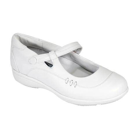 24 HOUR COMFORT Joyce Women Adjustable Extra Wide Width Mary Jane Shoe by  2020 Online