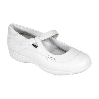 24 HOUR COMFORT Joyce Women Extra Wide Width Adjustable Mary Jane Shoe (More options available)