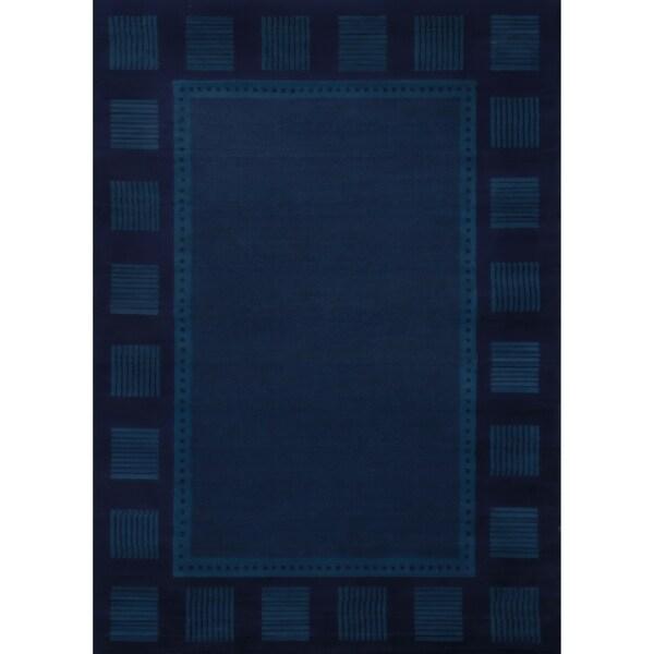 Westfield Home Ulubre Gaia Navy Blue Area Rug 7 X27 10 X