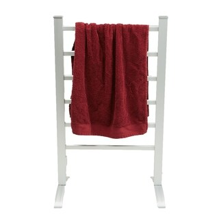 Mind Reader Electric Heated Clothing Rack, 100 Watt Stainless Steel Portable Stand Alone, Towel Stand Dryer, Warmer, Silver