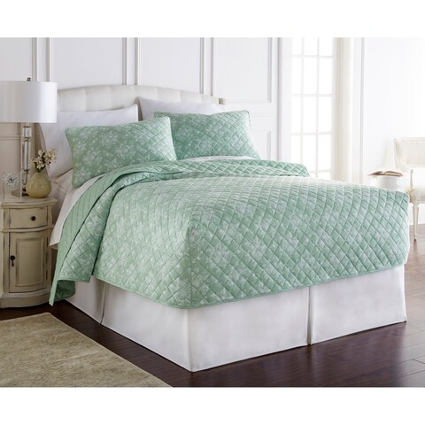 Micro Flannel® Toile Fitted Quilt Set