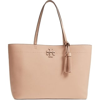 Tory Burch Mcgraw Pebbled Leather Tote Handbag