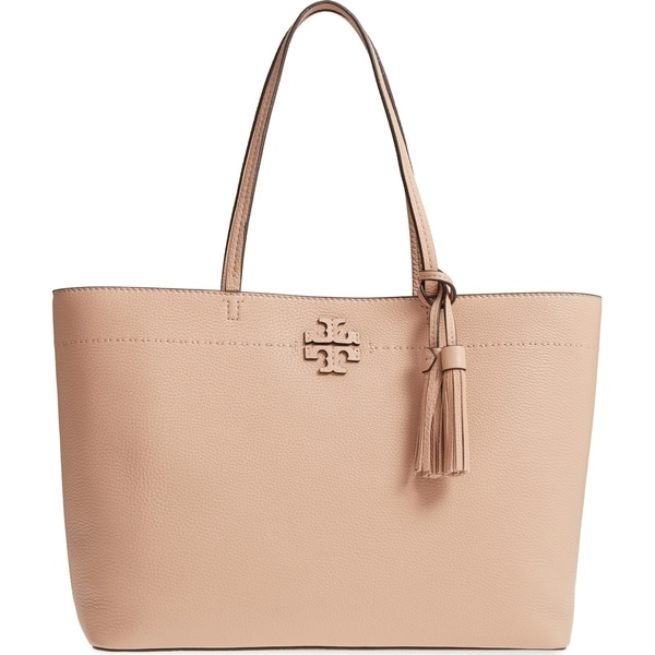 9bda969ce7c Shop Tory Burch Mcgraw Pebbled Leather Tote Handbag - On Sale - Free ...