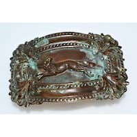 Handmade Olive Patina Victorian Themed Buckle (Made in USA)