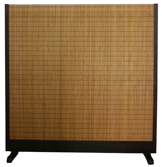 Handmade Beige Wood And Bamboo Take Free Standing Room Divider Screen China