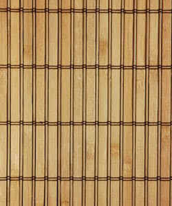 Handmade Beige Wood and Bamboo Take Free-standing Room Divider Screen (China) - Thumbnail 2