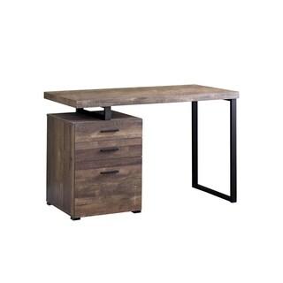"""Computer Desk - 48""""L Wood Grain / Black Metal"""