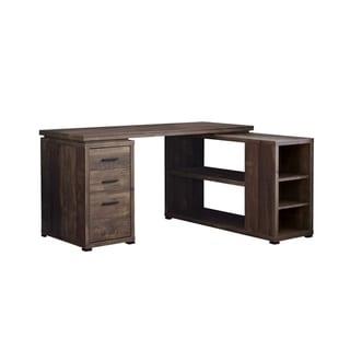 Computer Desk - Wood Grain L/R Facing Corner
