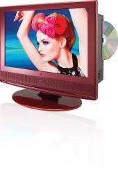 GPX TD1510R 15.4-inch Red HDTV/ DVD Player - Thumbnail 1