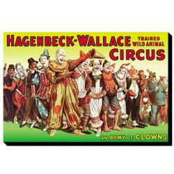 'Army of Clowns: Hagenbeck-Wallace Trained Wild Animal Circus' Canvas Art - Thumbnail 1