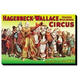 'Army of Clowns: Hagenbeck-Wallace Trained Wild Animal Circus' Canvas Art - Thumbnail 2