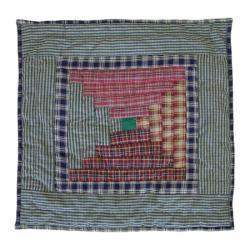 Harvest Log Cabin 16-inch Throw Pillows (Set of 2) - Thumbnail 2