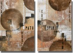 John Kime 'Concentration I and II' Canvas Art Set