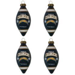 San Diego Chargers Teardrop Ornaments (Set of 4) - Thumbnail 1