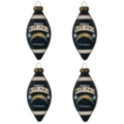 San Diego Chargers Teardrop Ornaments (Set of 4) - Thumbnail 2