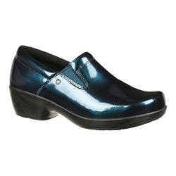 Women's 4EurSole Slip-On Metallic Blue Harbor Full Grain Leather