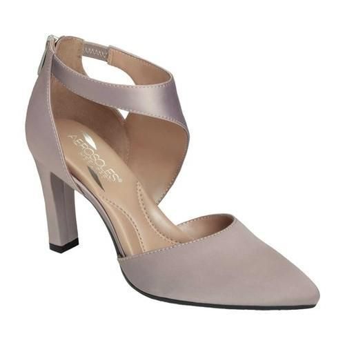 258e011b1c3d Shop Women s Aerosoles Tax Cut Ankle Strap Heel Grey Fabric - Free Shipping  Today - Overstock - 18840458