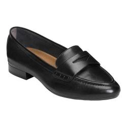 Women's Aerosoles Map Out Penny Loafer Black Leather