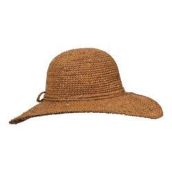 Women's Callanan CR212 Raffia Open Brim Sun Hat Tea