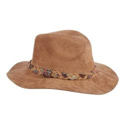 Women's Callanan LV393 Faux Suede Aztec Band Safari Hat Taupe