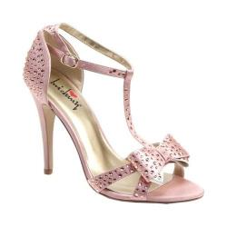 Women's Luichiny Piper Zoe T-Strap Sandal Blush Satin