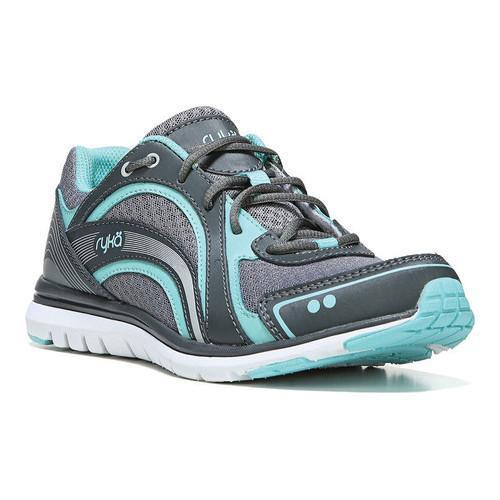 Women's Ryka Aries Walking Shoe Frost Grey/Aqua Sky/Iron ...