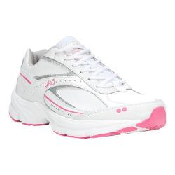 Women's Ryka Comfort Walk Sneaker White/Silver/Pink