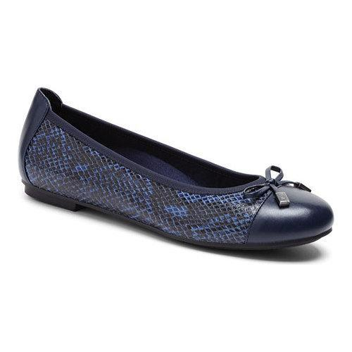 Minna Snake Leather Cap-Toe Leather Flats 2rBNs