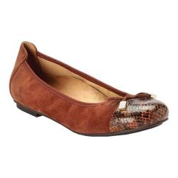 Women's Vionic with Orthaheel Technology Minna Ballet Flat Saddle Snake