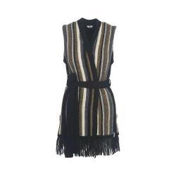 Women's Woolrich Shetland Fringe Vest Black