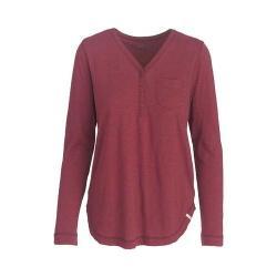 Women's Woolrich Silverwood Eco Rich Hybrid Henley Shirt Cordovan