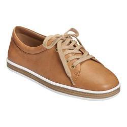Women's Aerosoles Function Sneaker Tan Leather