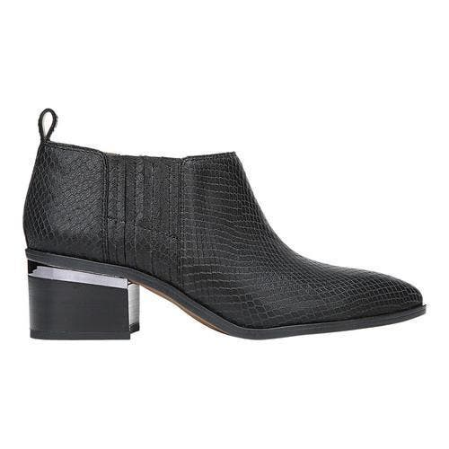 710a78b5363 Women's Franco Sarto Aberdale Bootie Black Metallic Snake Print Leather |  Overstock.com Shopping - The Best Deals on Boots
