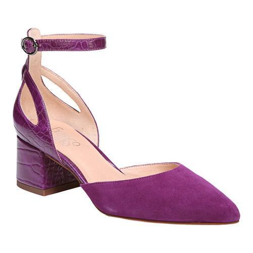 7afb4d24bb95 Shop Women s Franco Sarto Caleigh Ankle Strap Sandal Grape Diva Suede New  Croco Polyurethane - Free Shipping Today - Overstock.com - 18853263