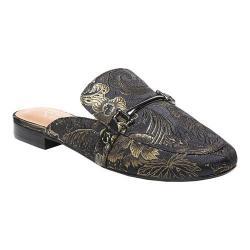 Women's Franco Sarto Dalton 2 Mule Black/Green Floral Brocade Fabric (4 options available)