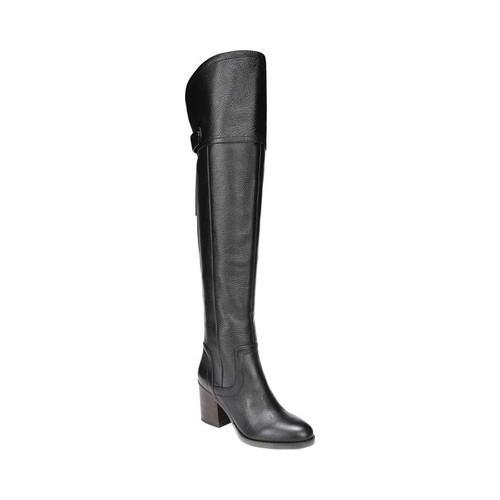 Women's Franco Sarto Ollie Over The Knee Boot Black Leather