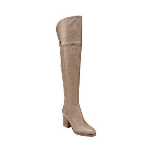 f5e6de5c59f Shop Women s Franco Sarto Ollie Over The Knee Boot Dover Taupe Leather -  Free Shipping Today - Overstock - 18853318